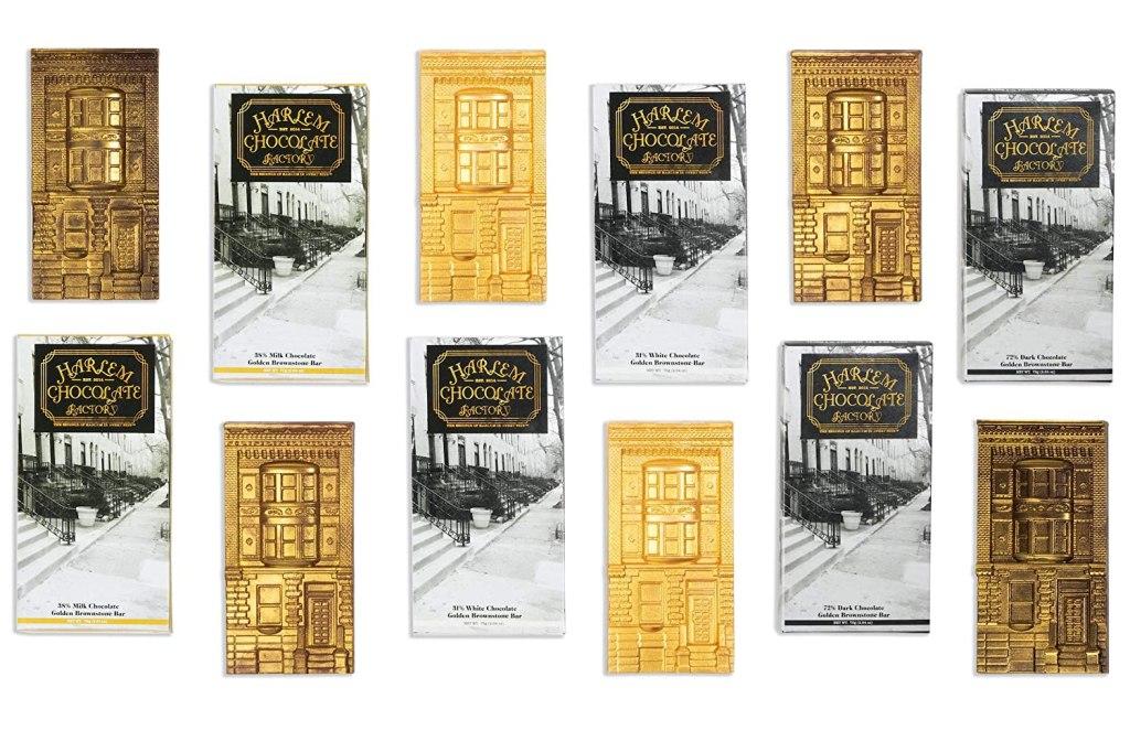 Harlem Chocolate Factory Golden Brownstone Gift Set