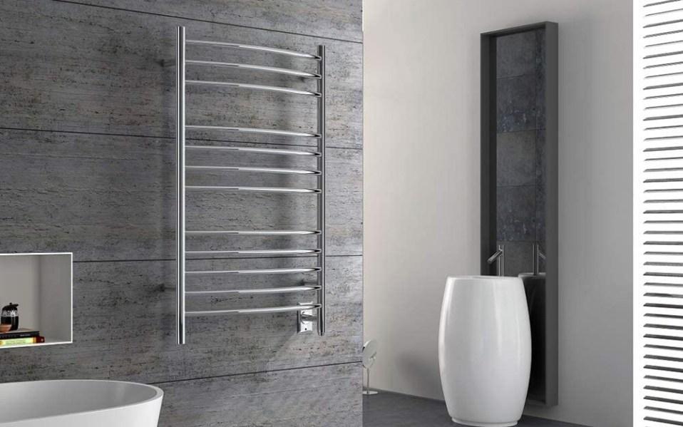 Heatgene wall-mounted towel warmer in a