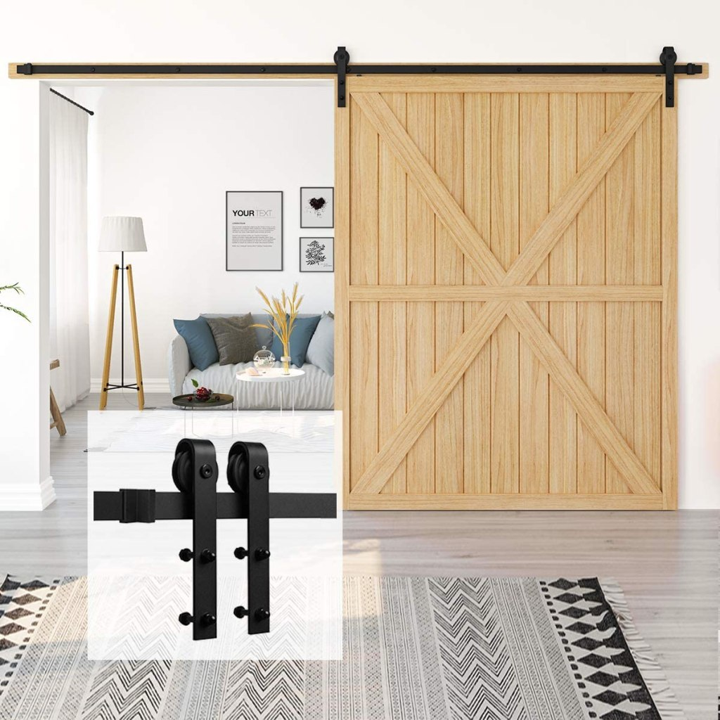 Homlux 13ft Heavy Duty Sturdy Sliding Barn Door Kid