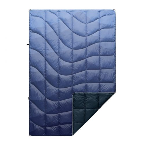 blue down blanket