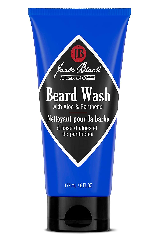A blue 6-ounce bottle of Jack Black Beard Wash