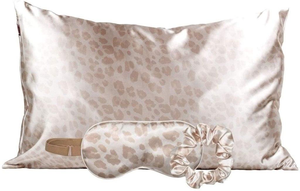 satin pillowcase kitsch leopard