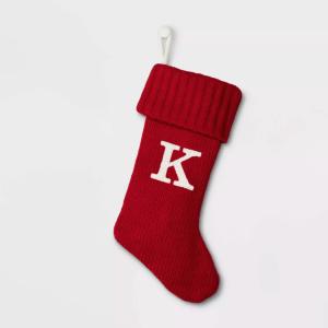 christmas stockings knit monogram