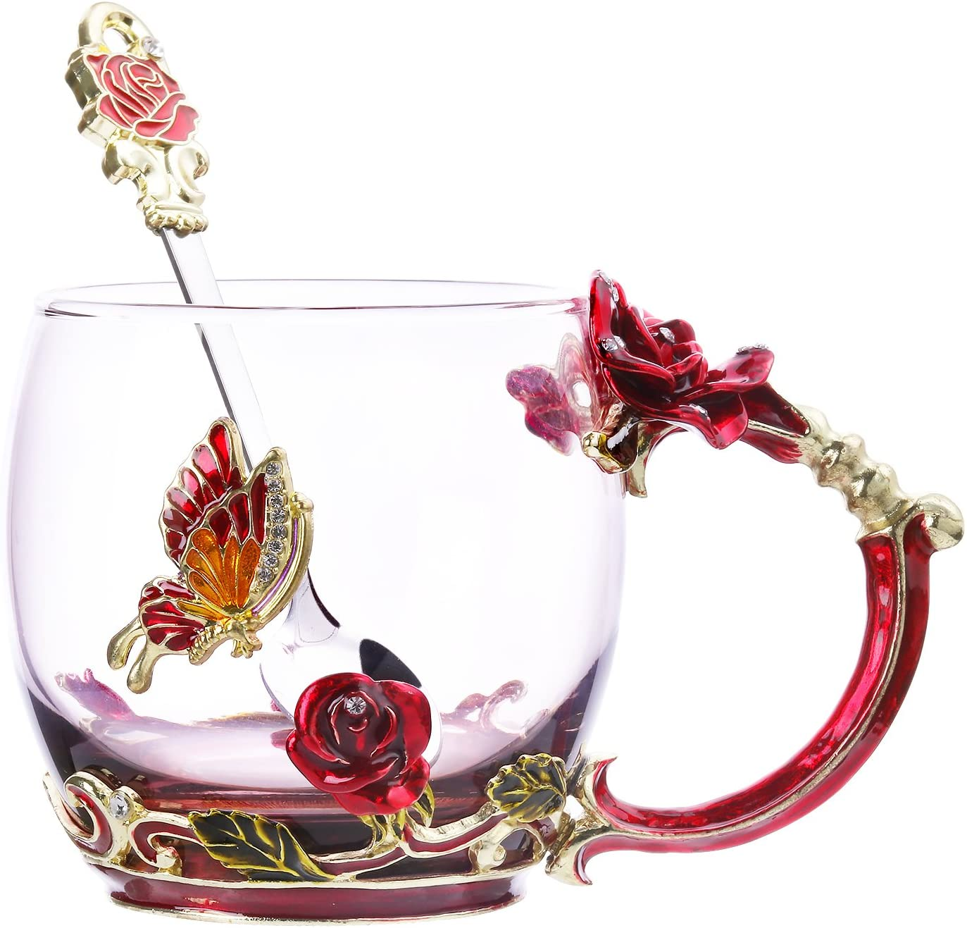 decorative glass tea cup, best gifts for mom