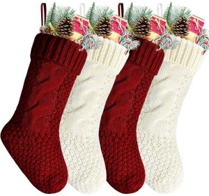 knit Christmas stockings, Christmas stockings