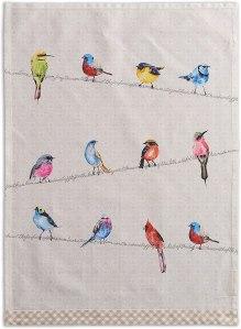 Maison d' Hermine Birdies On Wire Tea Towels, best hostess gifts