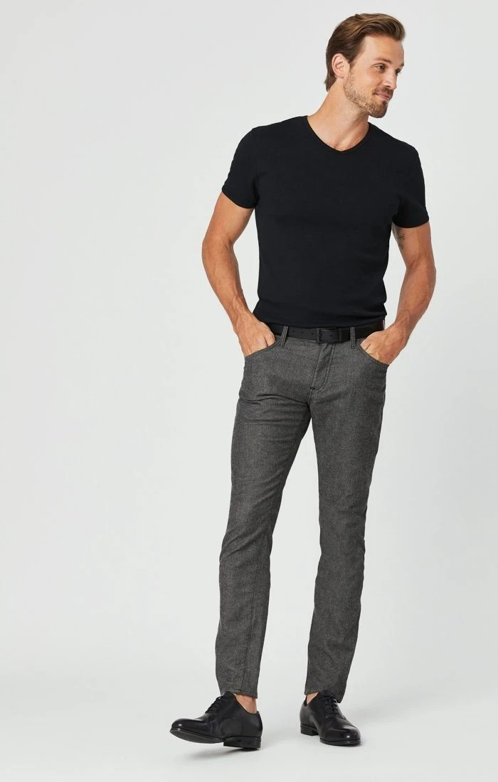 Mavi black tweed khakis
