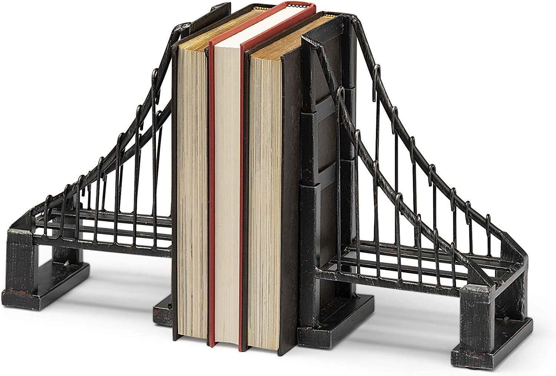black suspension bridge book ends