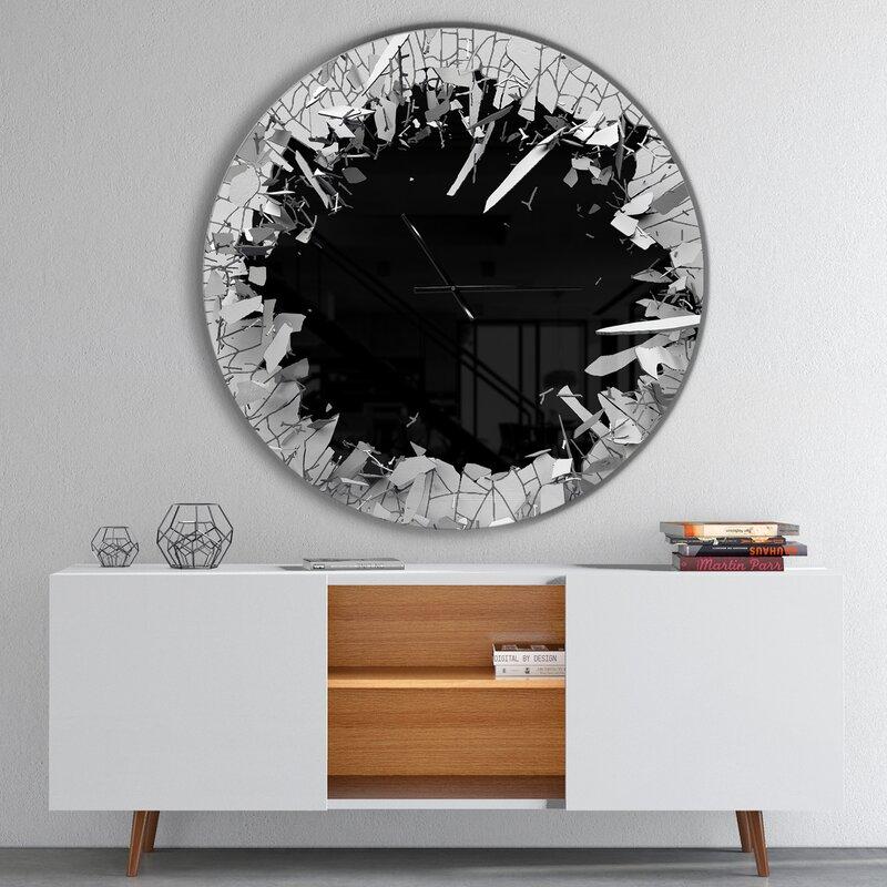 Mercer41 Oversized Broken 3D Design Wall Clock