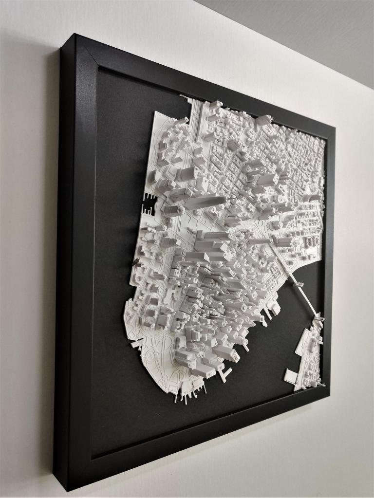 Micropolitan 3D City Wall Art