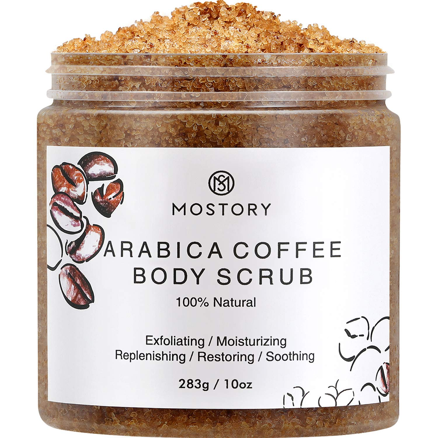 Mostory Dead Sea Salt and Coffee Body Scrub