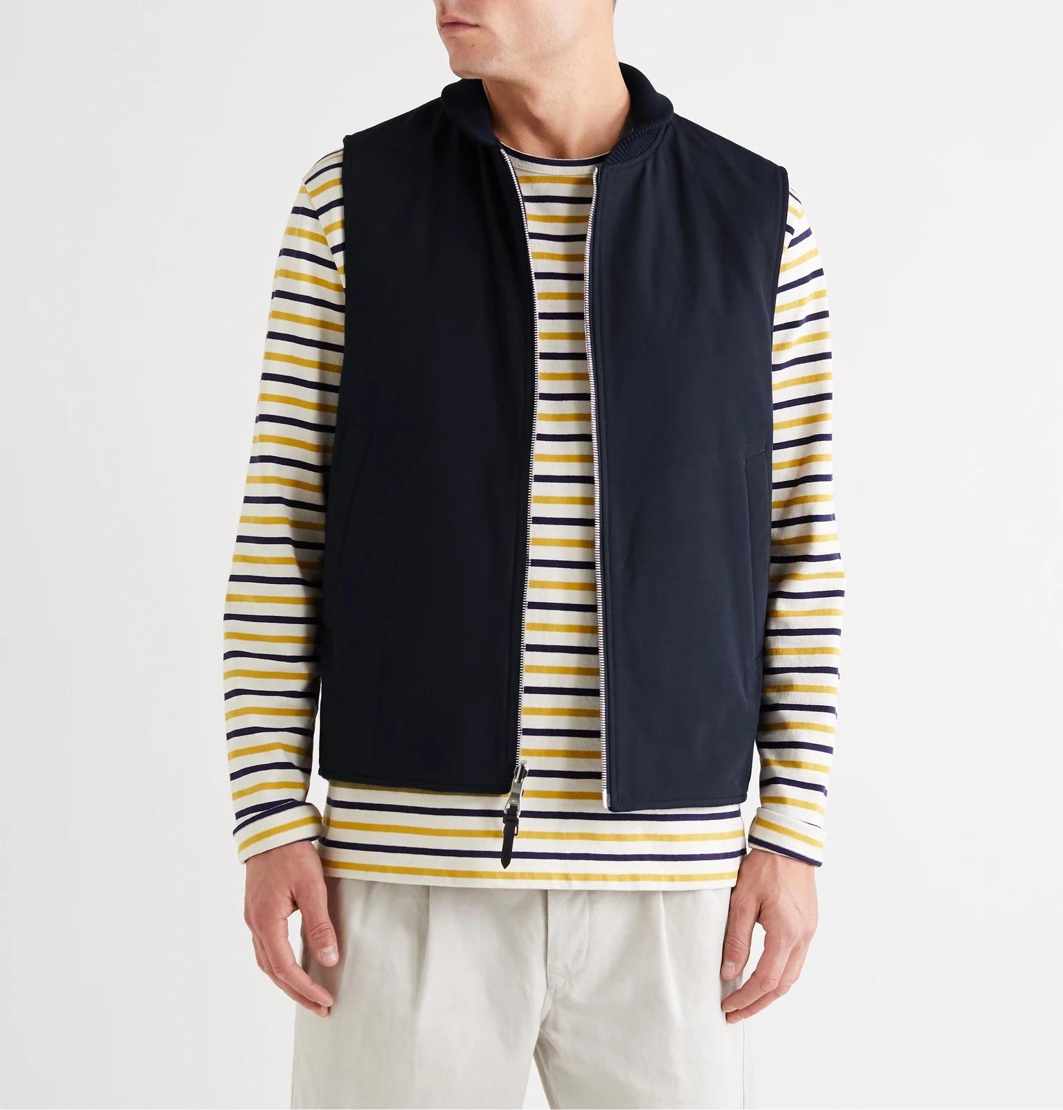 mr p black wool zippered vest