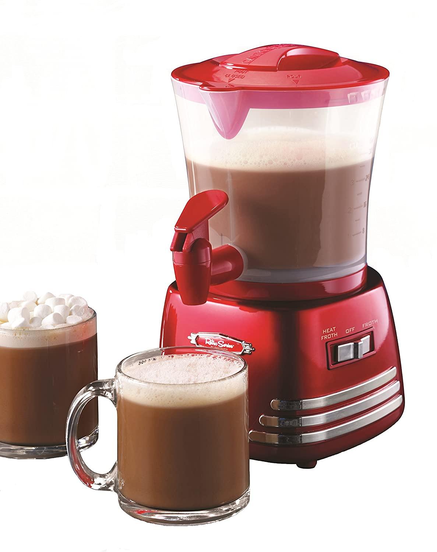 Nostalgia retro hot chocolate maker and dispenser