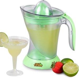 Nostalgia Taco Tuesday Electric Lime Juicer & Margarita Kit, best hostess gifts