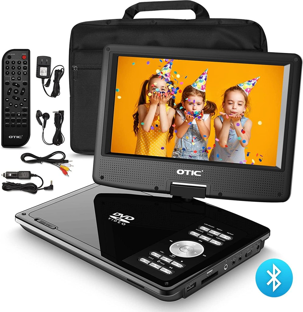OTIC Bluetooth Portable DVD Player