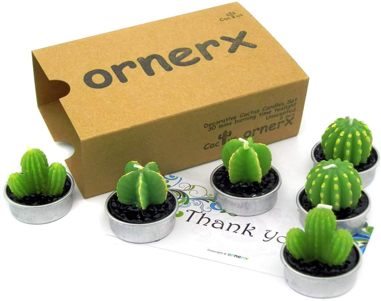 Ornerx Decorative Cactus Tea Light Candles, best gifts for mom