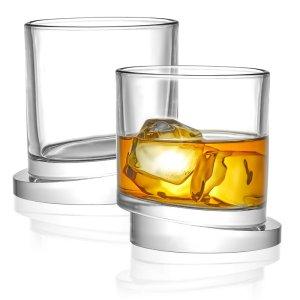 orren ellis tilted whiskey glass