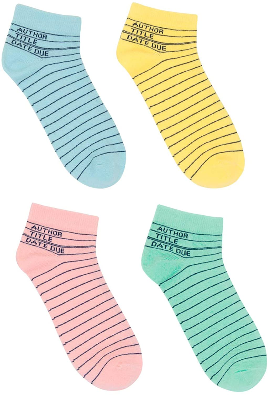out of print pastel unisex library card print anklets, best gifts for book lovers