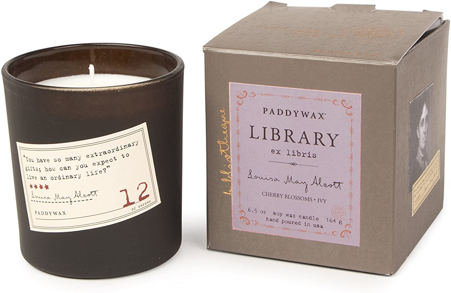 paddywax library collection louisa may alcott candle, best gifts for book lovers