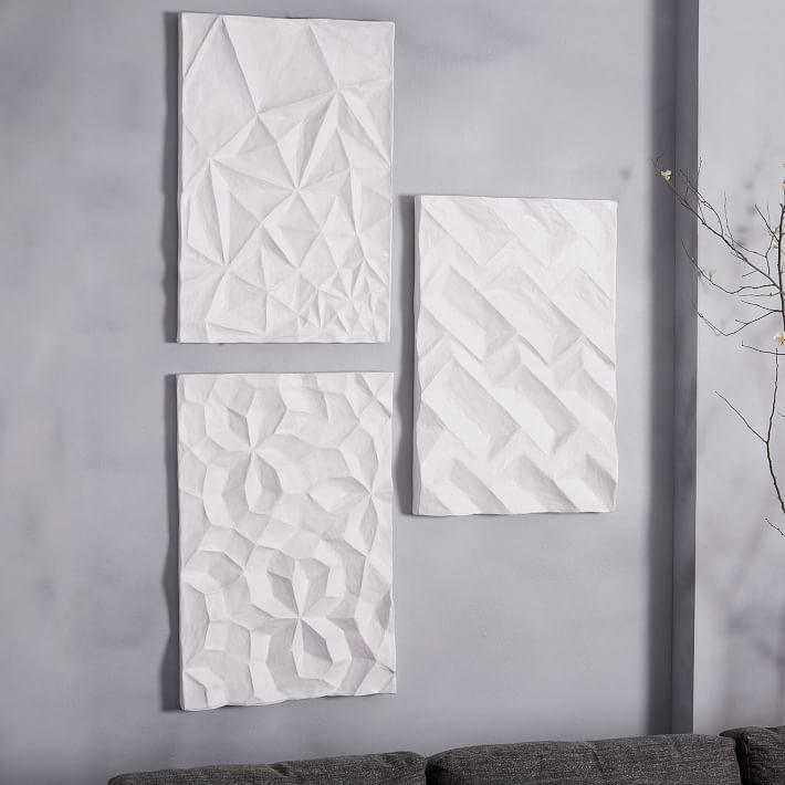 Papier-Mache Wall Art Geo Panels from West Elm