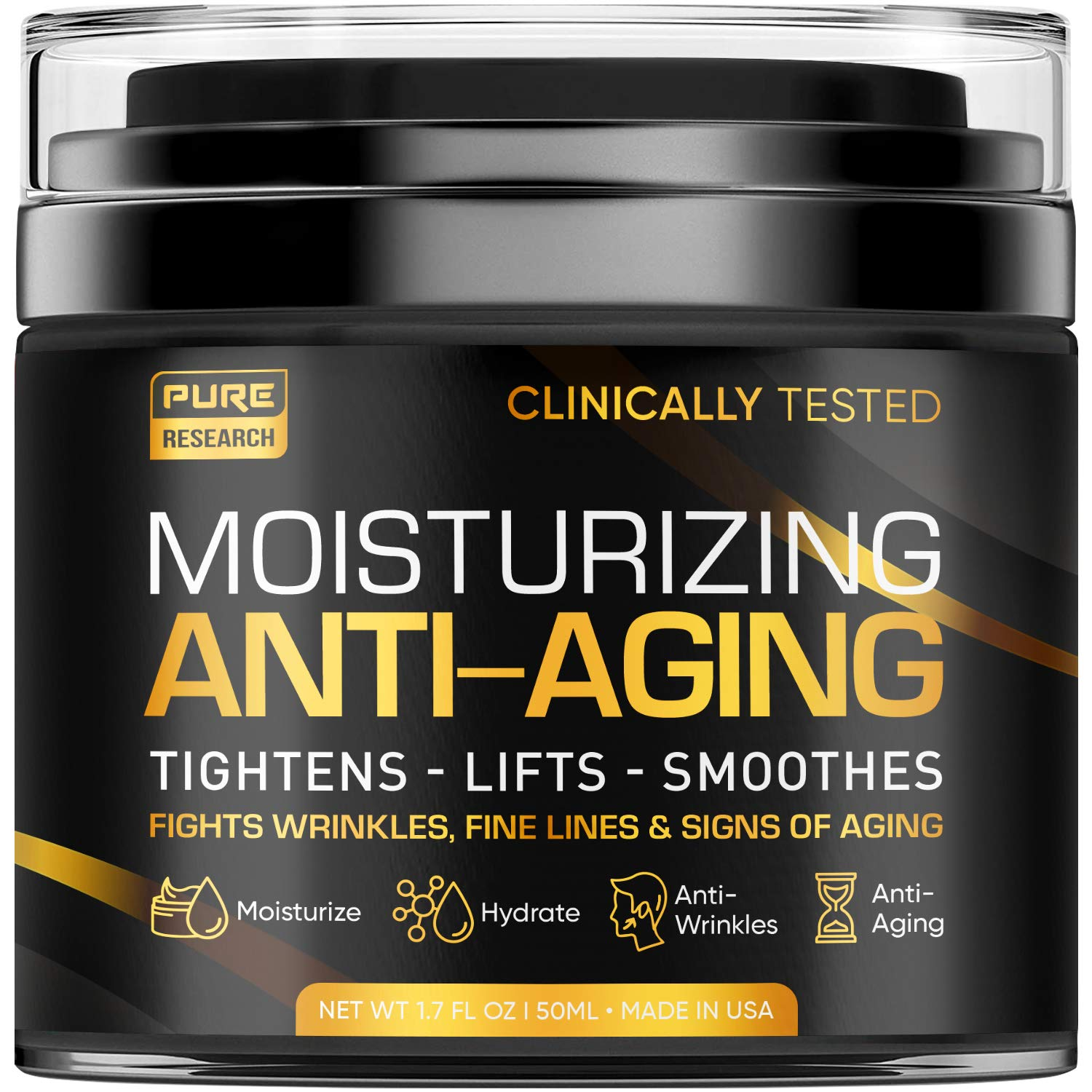 Pure Research Men's Moisturizing Anti-Aging Cream; best anti-aging products for men