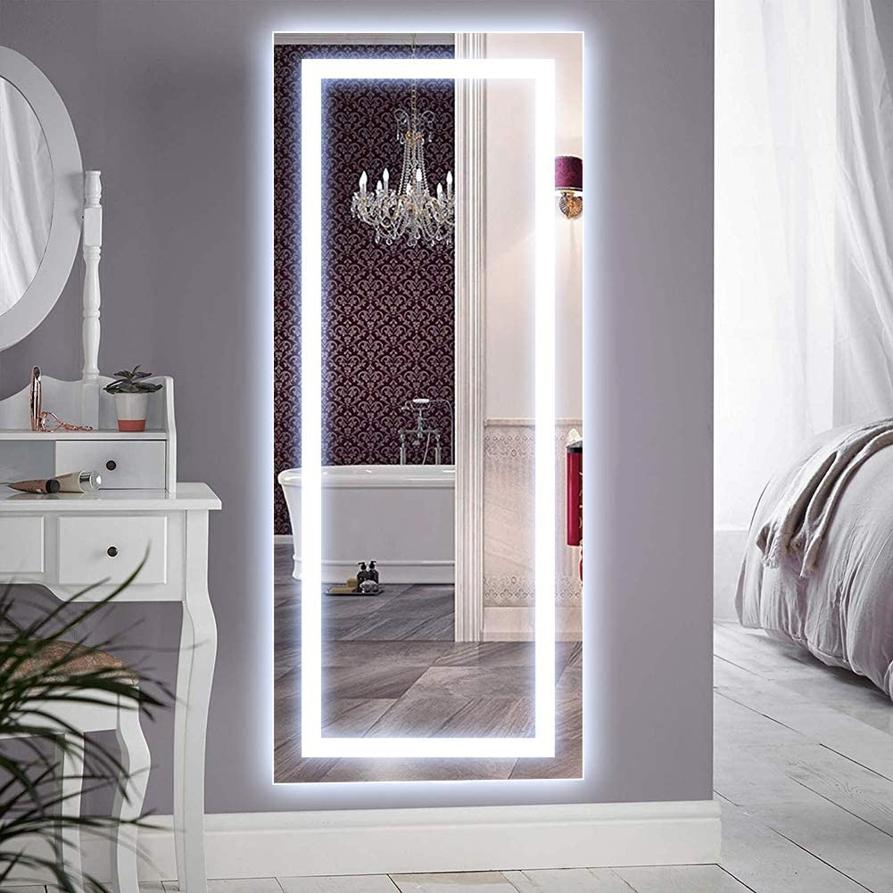 Qimh Wall Mounted LED Lighted Vanity Mirror