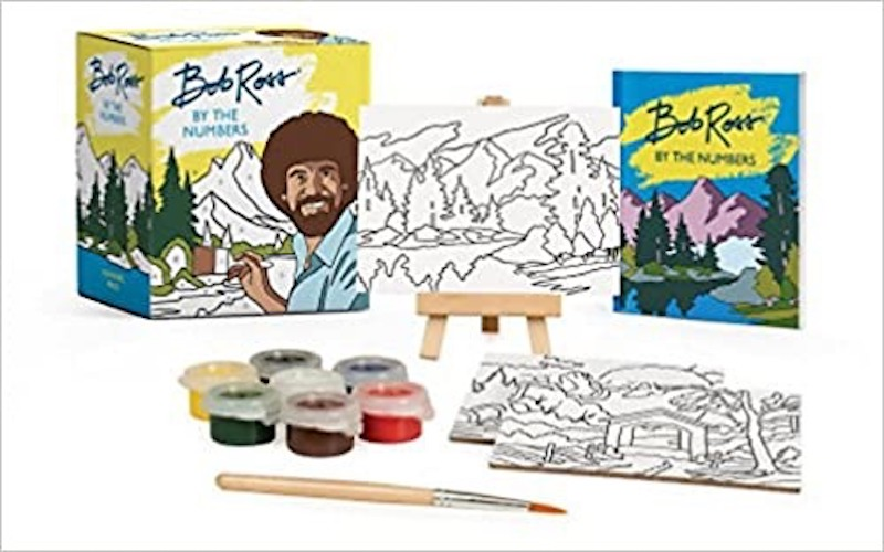 """best gifts under $50 - mini paint by number """"RP Minis Bob Ross"""""""