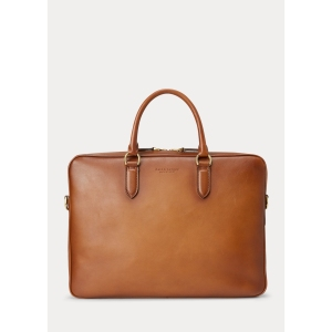 ralph lauren burnished vachetta briefcase, briefcase for lawyers