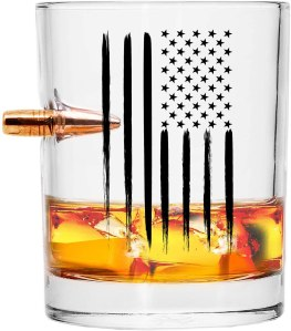 best whiskey glasses real projectile american flag