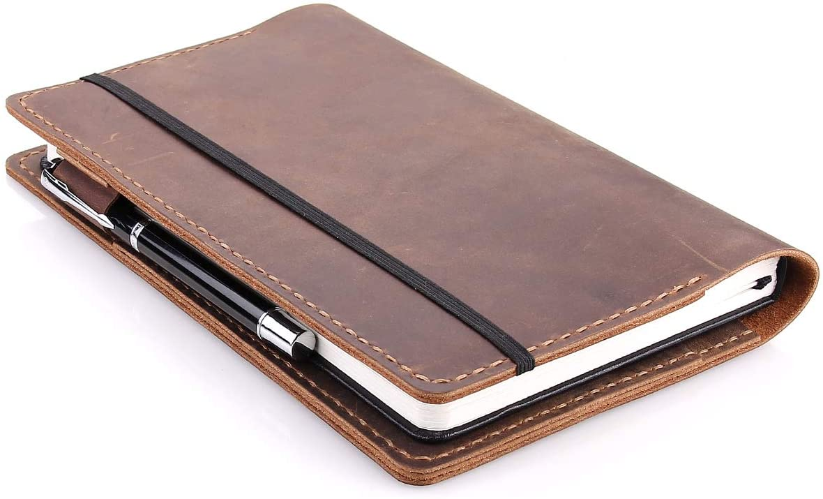 Robrasim Leather Journal Cover compatible with Moleskine notebooks