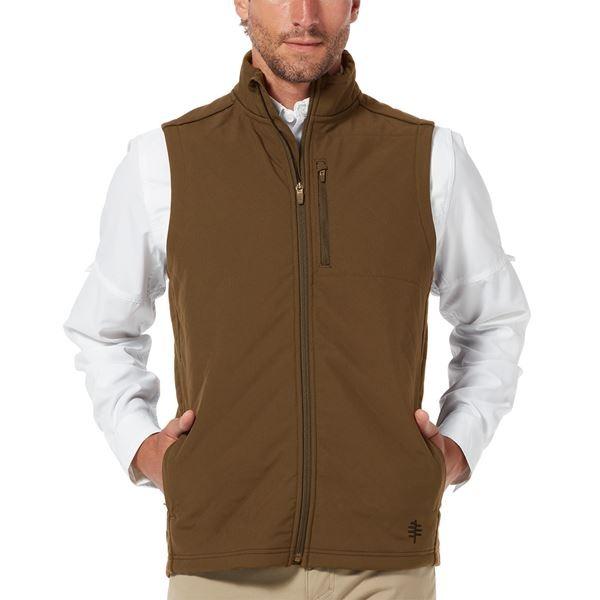 royal robbins brown side quilted men's vest