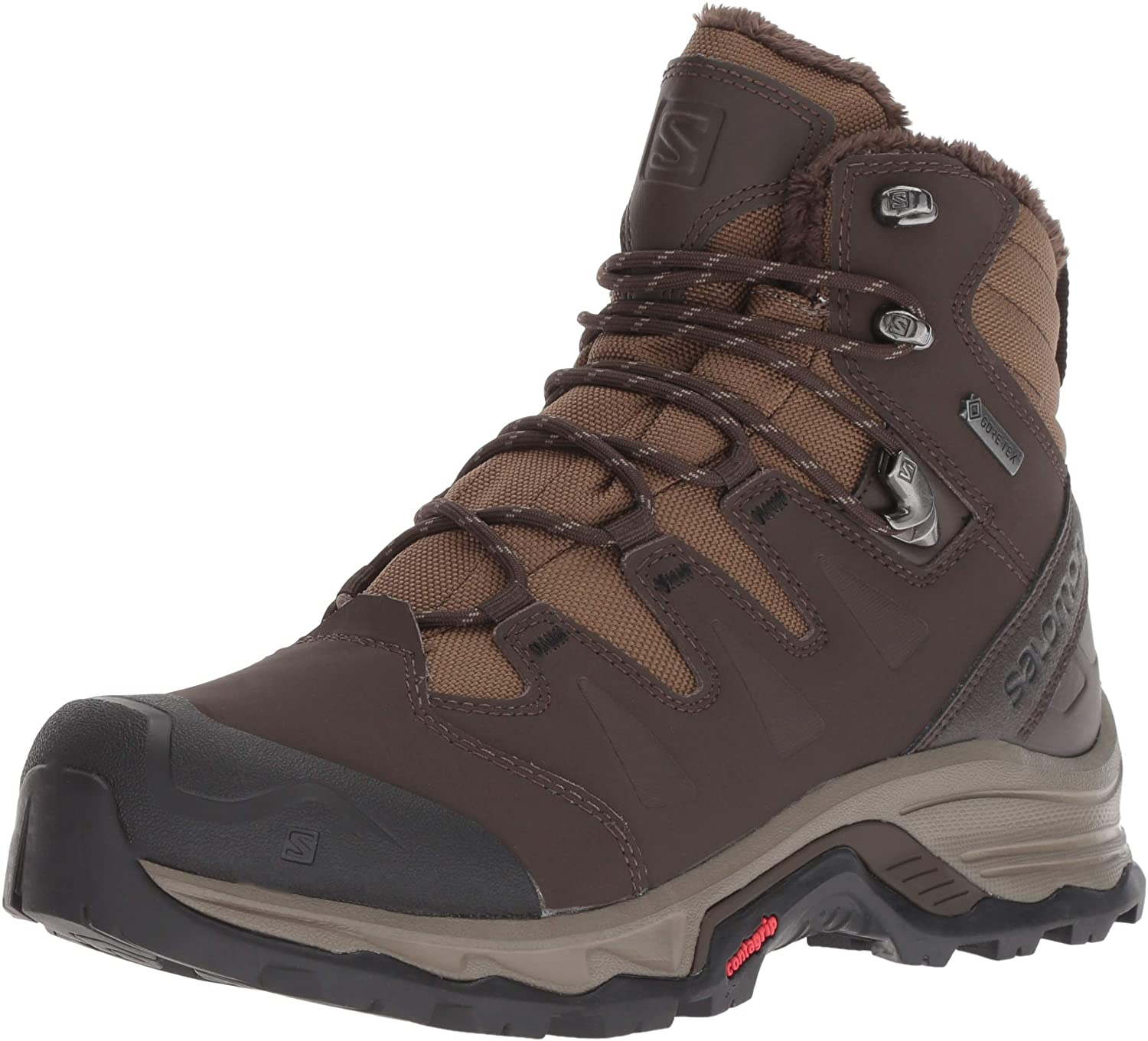 salomon brown lace up quest winter boot