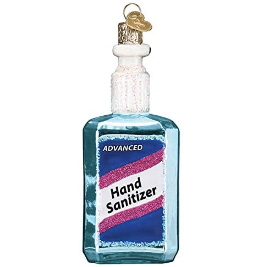 hand sanitizer shaped ornament