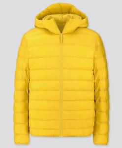 men's ultra light down parka (in bright yellow), puffer jacket