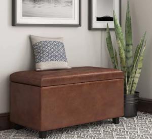 essex storage ottoman, bedroom storage bench