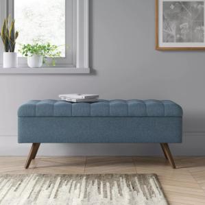 arthur tufted storage bench, bedroom storage bench