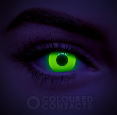 Coloured Contacts Yellow UV I-Glow Colored Contact Lenses (Daily)