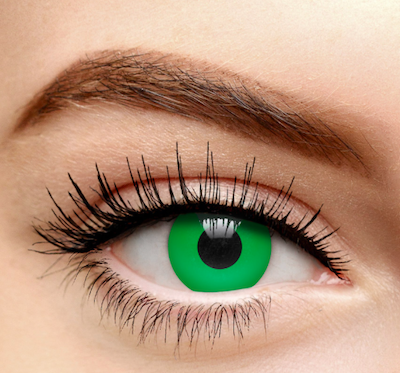Coloured Contacts Green Witches Eyes Colored Contact Lenses (30 Day)