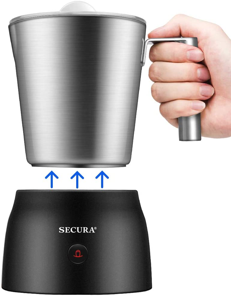 Secura 4-in-1 electric milk frother and hot chocolate maker