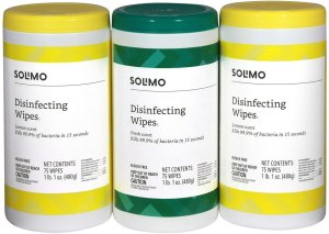 solimo brand disinfecting wipes, best cleaning wipes