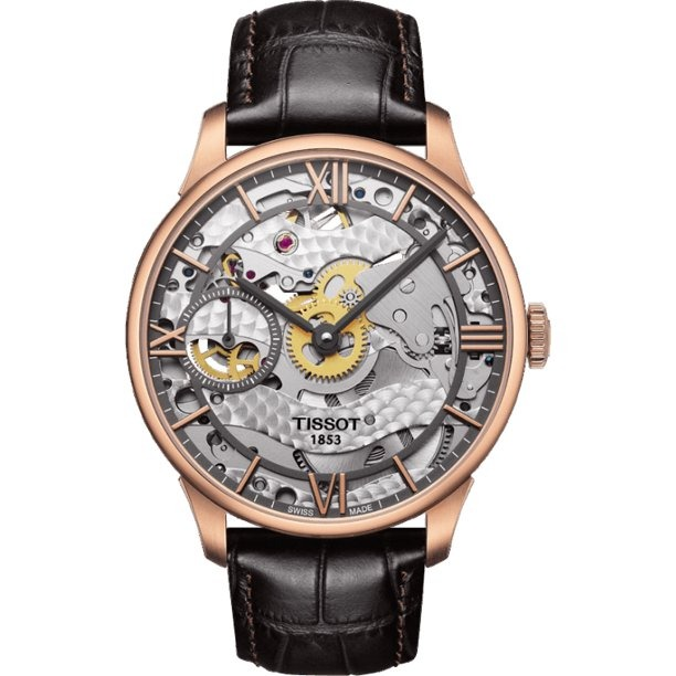 tissot squelette black skeleton watch