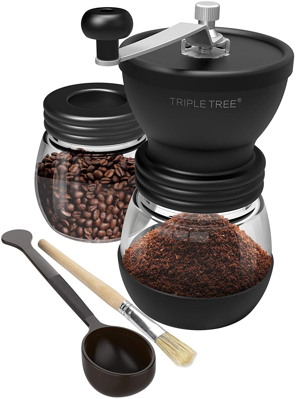 Triple Tree Manual Coffee Grinder with ceramic burrs