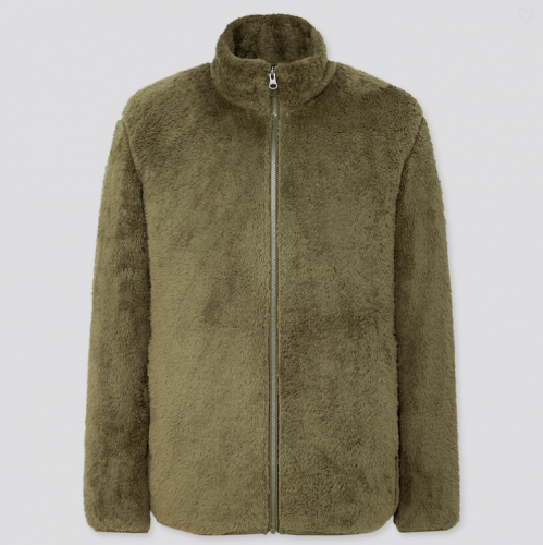 Uniqlo Fluffy Yarn Fleece Jacket