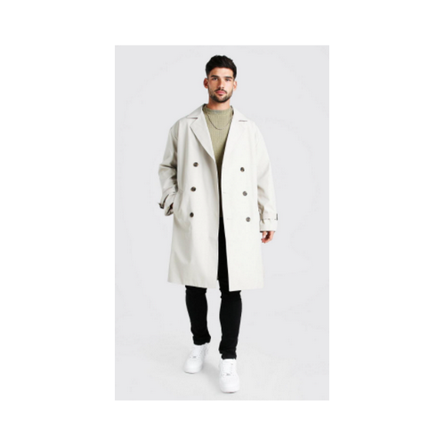 boohooman oversized trench coat