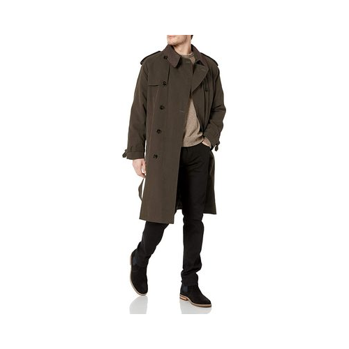 london fog dark khaki trench coat