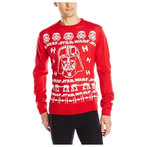 funny ugly christmas sweaters - star wars sweater in red color