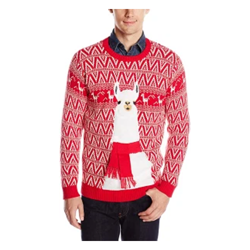 ugly funny christmas sweaters - Blizzard Bay Festive Llama Christmas Sweater
