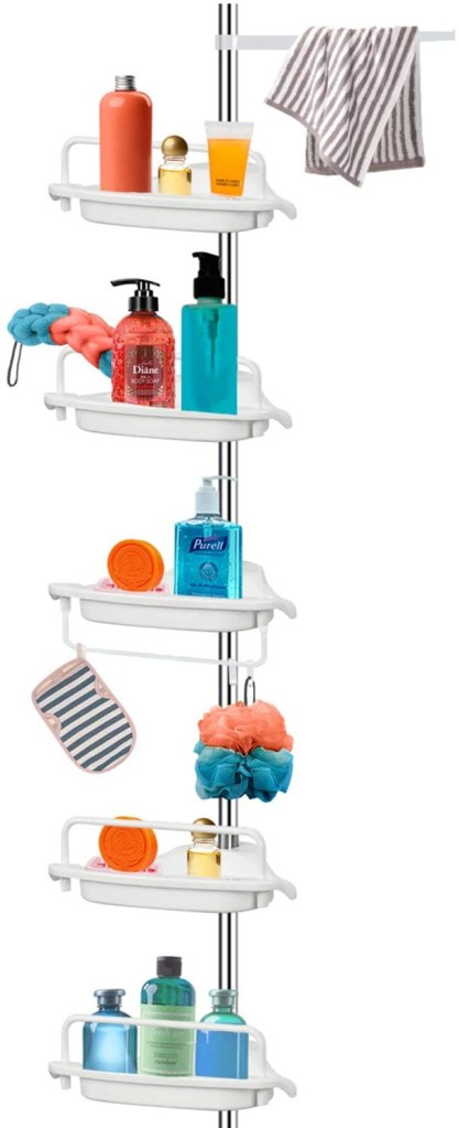 Vailge tension pole shower caddy