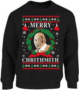 funny ugly christmas sweaters - Vizor Mike Tyson Merry Chrithmith Sweater