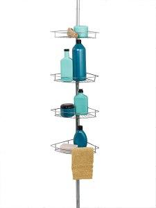zenna home shower pole, best shower caddy